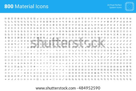 thin line internet marketing and social network icons set for website and mobile site and apps cont stock photo © makyzz