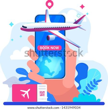 online · ticket · reis · ontwerp · stijl - stockfoto © winner