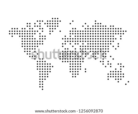 Stock photo: World map vector, isolated on white background. Can be used for anual report, inphographics. High De