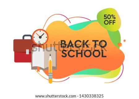 Powrót do szkoły sprzedaży dynamiczny stylu banner projektu Zdjęcia stock © ikopylov