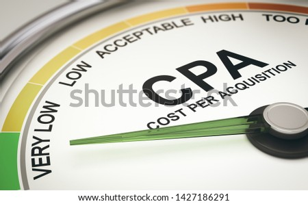 Marketing Metrics. CPA Cost per Acquisition Measurement, Acquiri Stock photo © olivier_le_moal