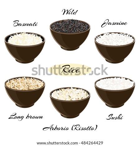 White bowl of raw organic arborio risotto rice on white background. Healthy food.  stock photo © DenisMArt