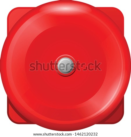 Vintage red wall ball of fire alarm - retro siren of emergency e Stock photo © Winner