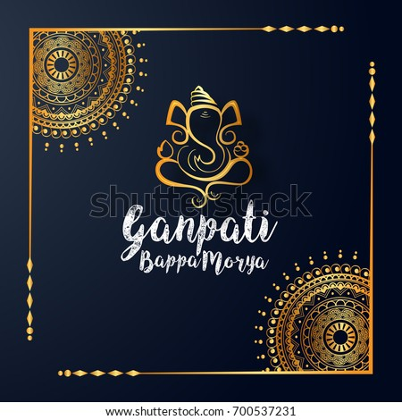 lord ganesha creative design banner for ganesh chaturthi festiva Stock photo © SArts