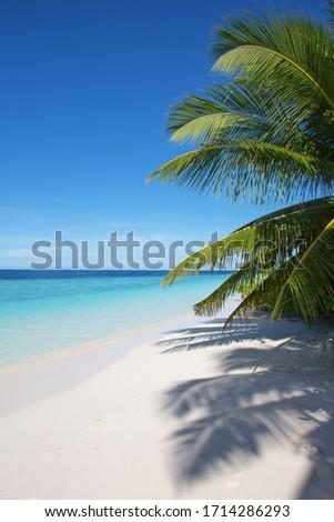 Zee turkoois water klein witte strand Stockfoto © galitskaya