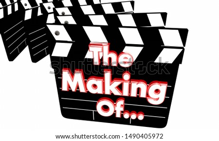 The Making of Behind the Scenes Production Secrets Movie Clappers 3d Illustration Stock photo © iqoncept