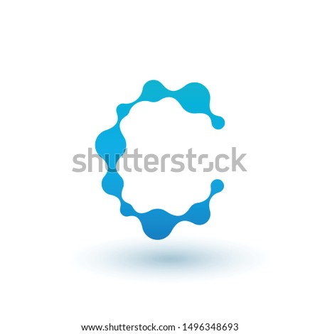 Water moleculair letter c logo-ontwerp vloeistof vloeibare Stockfoto © kyryloff