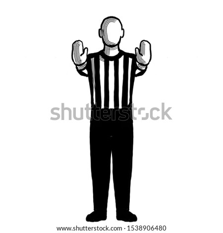 Basketball Referee 10-second violation or charging pushing Hand Signal Retro Black and White Stock photo © patrimonio