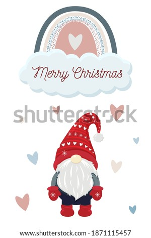 Bella design felice Natale poster Foto d'archivio © balasoiu