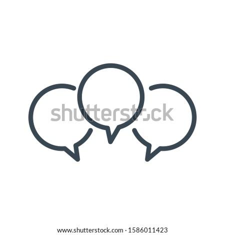 Tre lineare chat discorso messaggio bolle Foto d'archivio © kyryloff