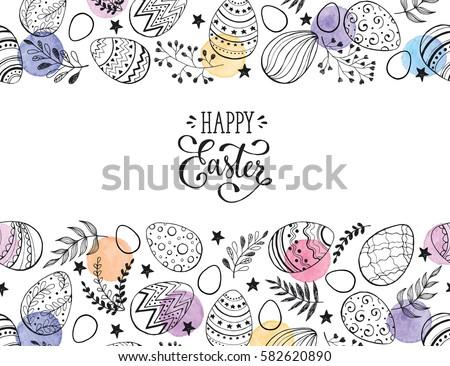 Pastel cor ovos de páscoa branco coleção Foto stock © ukasz_hampel