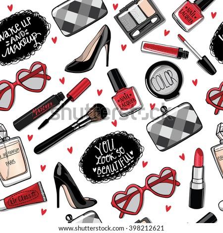Componen cepillo cosméticos colección arte Foto stock © Andrei_
