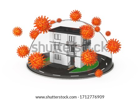 Wirusa domu kopuła biały odizolowany 3D Zdjęcia stock © ISerg