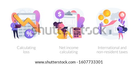 Financial loss and income vector concept metaphors Stock photo © RAStudio