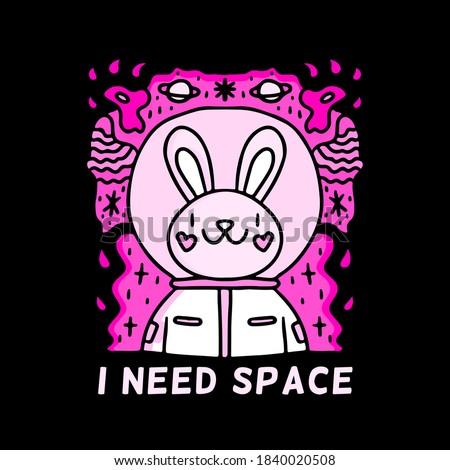 Cute konijn poster vector eps 10 Stockfoto © rwgusev