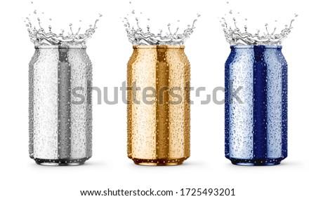 Molhado metálico alumínio estanho salpico gotas Foto stock © LoopAll