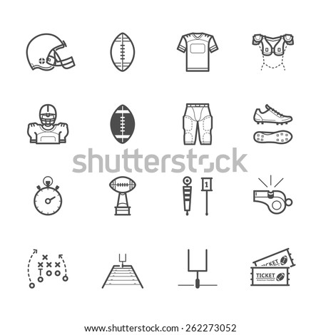 Americano futebol cor vetor ícones Foto stock © ayaxmr