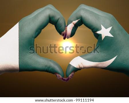 Bayrak Pakistan biçim kalp sevmek Stok fotoğraf © butenkow