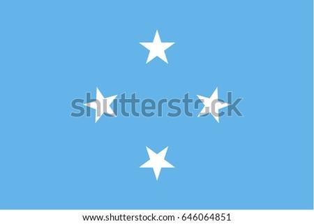 Micronesia bandiera bianco Ocean segno colore Foto d'archivio © butenkow