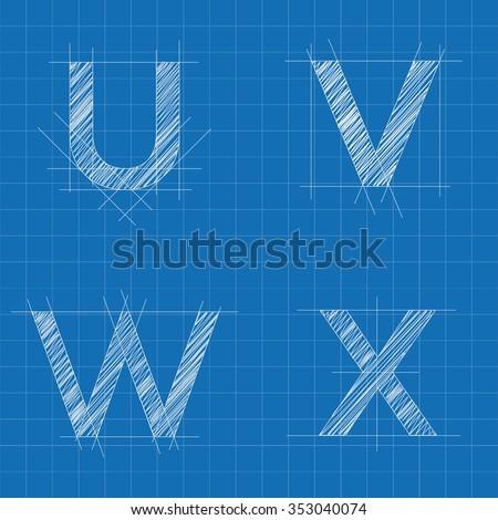 Architektoniczny litery plan stylu chrzcielnica biały Zdjęcia stock © evgeny89