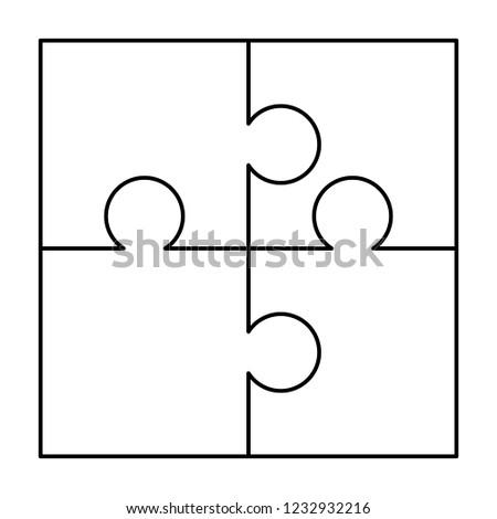 Fehér darabok tér kirakós játék sablon kész Stock fotó © evgeny89