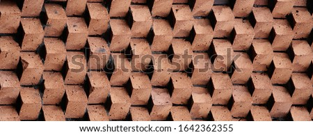 赤 レンガの壁 テクスチャ デザイン 素材 壁 ストックフォト © Anneleven