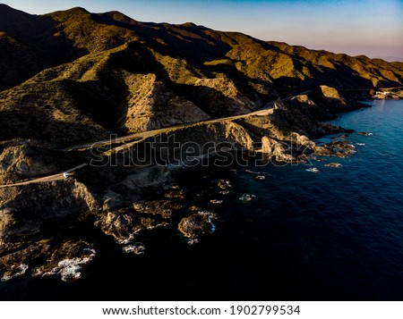 Aerial view of Andalucia region in Spain and Mediterranean Sea, beautiful nature in summer Stock photo © Anneleven