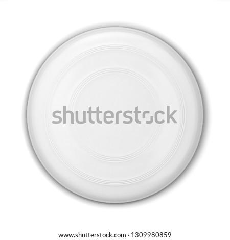 飛行 ディスク 3次元の図 孤立した 白 ストックフォト © montego