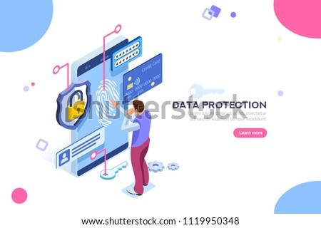 интернет безопасности личные ноутбука Сток-фото © ra2studio