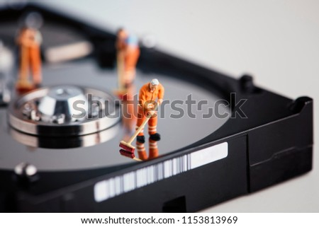 cleaning data from hard disk Stock photo © gewoldi