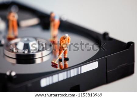 Takarítás adat merevlemez acél ecset felület Stock fotó © gewoldi