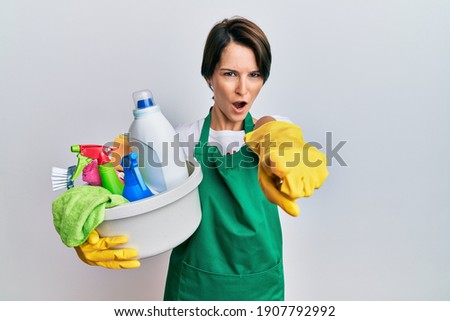 Angery Caucasian Woman Pointing Accusing Finger Holding Envelope Stock photo © Qingwa