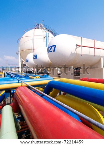 gas tanks in the industrial estate suspension energy for transp stock photo © cozyta