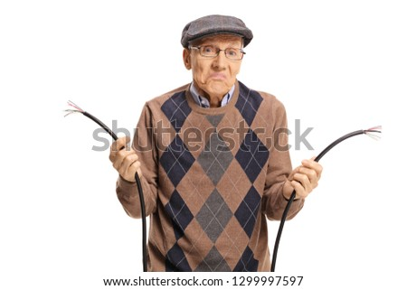 Man cutting a cable Stock photo © photography33