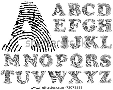 finger print alphabet Stock photo © ojal