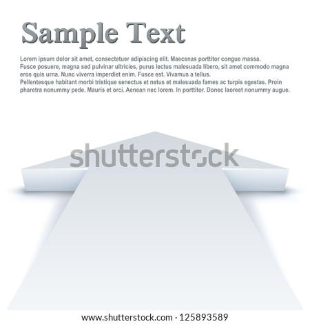 Abstract white arrow pointing straight ahead business background Stock photo © tuulijumala
