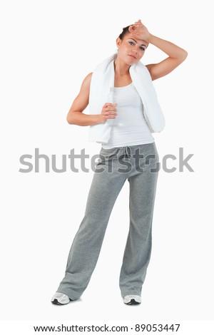 молодые женщины пот лоб белый Сток-фото © wavebreak_media