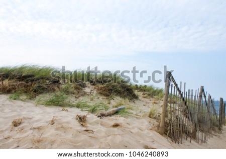 Cape cod empreintes sable ciel paysage été Photo stock © billperry