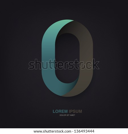 Infinite oval symbol template on dark lines texture, vector, EPS Stock photo © pashabo