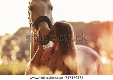 женщину лошади женщины животные животного Lady Сток-фото © jeancliclac