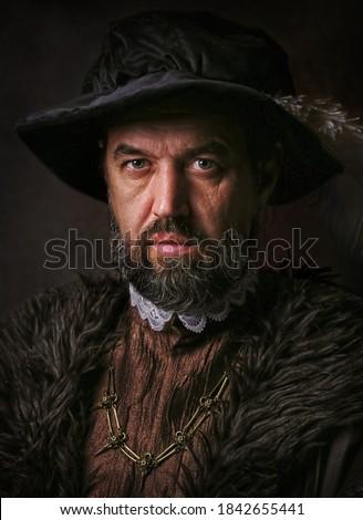 Foto stock: Retrato · homem · escuro · estúdio · cara · sensual
