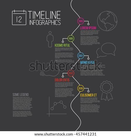 Ciemne timeline sprawozdanie szablon opisowy Zdjęcia stock © orson