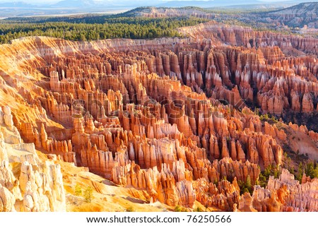 Amphitheater Hoodoos Inspiration Bryce Point Bryce Canyon Nation stock photo © billperry
