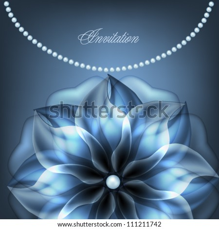illustration of a blue background of silver jewelry with blue precious Stock photo © yurkina