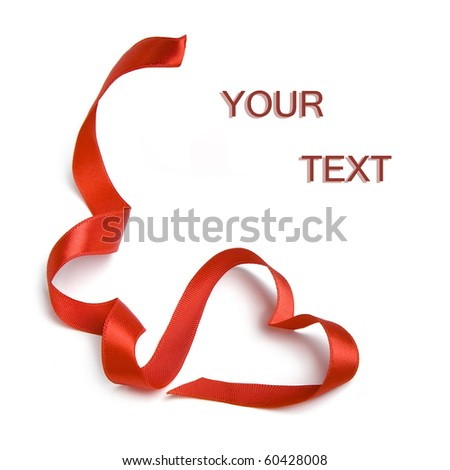 Têxtil membro etiqueta coração fita arco Foto stock © tetkoren