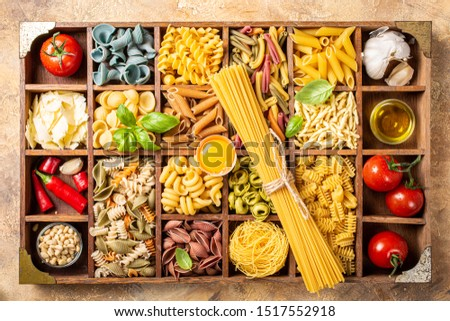 Gemelli Italian pasta gluten-Free  Italian pasta from durum wheat on stone background, closeup Stock photo © mcherevan