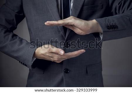 Biztosítás kezek kézmozdulat ikon autó technológia Stock fotó © CebotariN