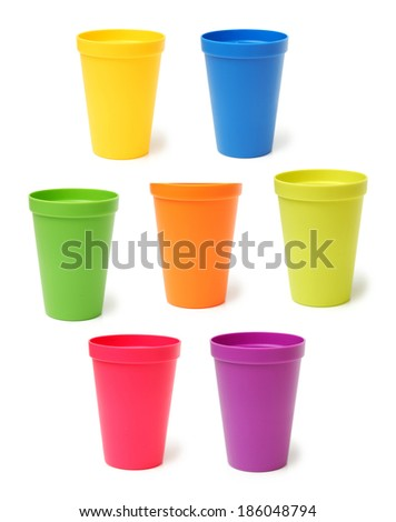 Purple Plastic Cups Stock photo © zhekos