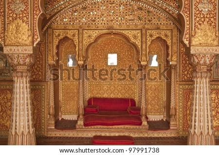 Paleis binnenkant fort huis ontwerp kasteel Stockfoto © meinzahn