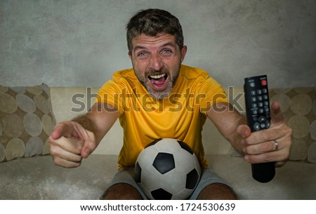 Retrato ventilador pelota blanco Foto stock © master1305